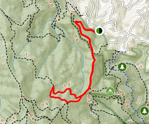 Windy Ridge to Indian Fire Road Map