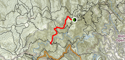 East Peak to West Point Map