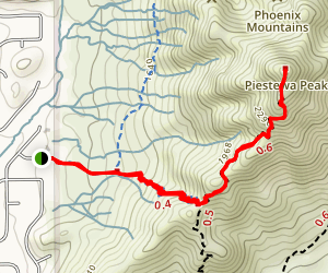 Freedom Trail to Piestewa (Squaw) Peak Map