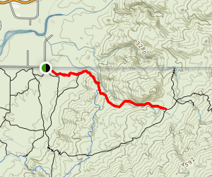 Douglas Spring to Three Tank Trail Junction Map