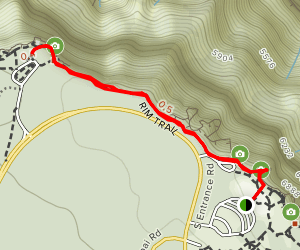 Yavapai Point via Rim Trail Map