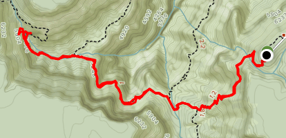 Dripping Springs via Dripping Springs and Hermit Trail Map