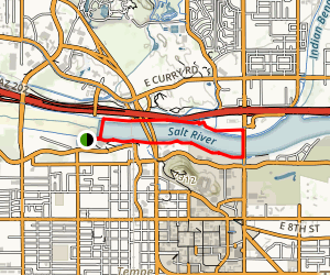 Tempe Town Lake via Tempe Center for the Arts Map