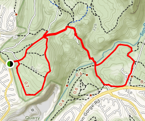 Quarry Loop to MTRP Visitor Center Map