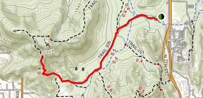 Trail 306 via Trail 100 Map