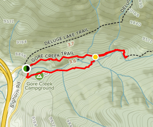 Gore Creek Trail Campground Loop Map