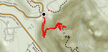 Coconino Overlook Map