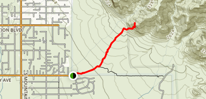 Monument Canyon and Broadway Cave via Jacob's Trail Map