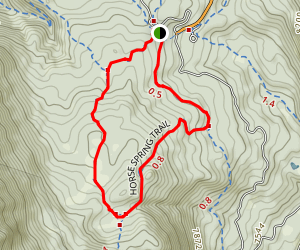 Horse Flat, Horse Spring and Lame Horse Trail Loop Map