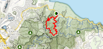 Bay View Trail to Shoreline Trail Loop Map