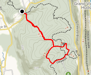 Orange Trail Loop via Long Path Map