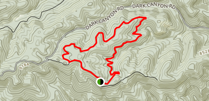 Dark Canyon Loop Trail Map