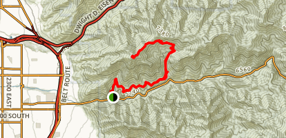 Grandeur Peak from Mill Creek Pipeline Map