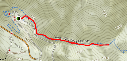 Pine Hollow to Salamander Flat Map