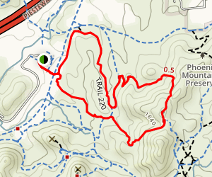 Trail 220 Loop Map