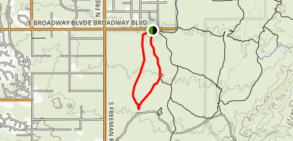 Shantz and Mica View Trail Map