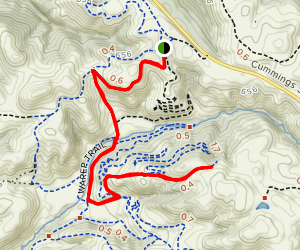 Two Peaks to South Tree Frog  Map
