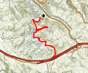 Two Peaks, Warep, Tree Frog, Goldfinch, Bay Area Ridge Trail (CLOSED) Map