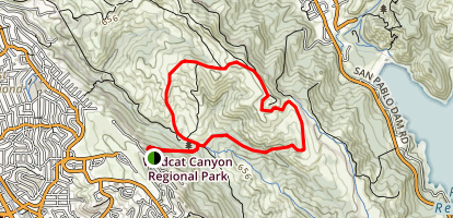 Harvey Canyon and Mezue Trail Loop Map