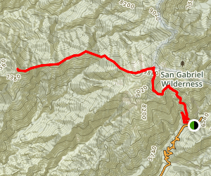 Iron Mountain via Baldy Ridge Map