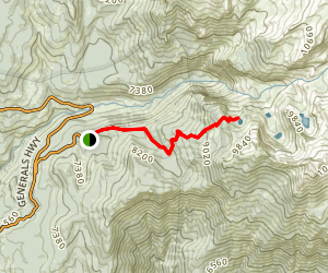 Heather Lake via Hump Trail (Winter Route) Map