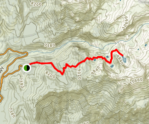 Heather Lake and Pear Lake via Hump Trail (Winter Route) Map