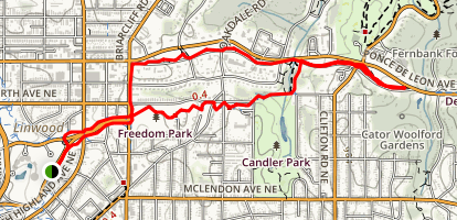 Carter Center, Freedom Park, Olmsted Linear Parks Map