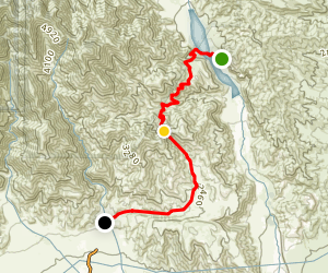 Whitwater Ranger Station to Cottonwood TH via PCT Map