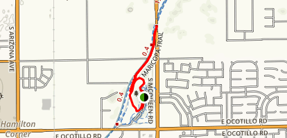 Paseo Vista Loop and Chandler Canal Map