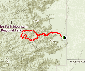 Mesquite Canyon Trail Map