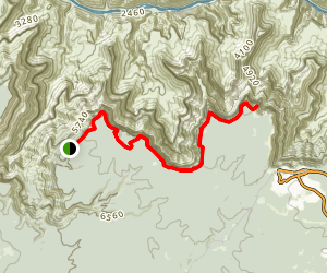 West Rim Trail: Hermits Rest to Powell Point Map