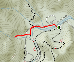 Setrock Creek Falls Trail Map