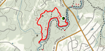 Bobbitt Hole Trail to Cole Mill Trail Loop Map