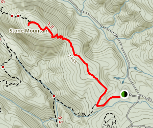 Stone Mountain Trail Map