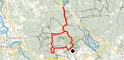 Keith Hill Forest Loop to Silver Lake Map