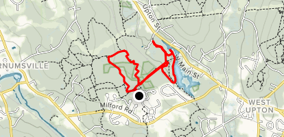 Keith Hill Forest and West River Reservoir Loop Map