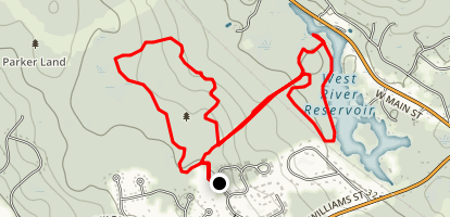 Keith Forest and West River Reservoir Loop Map