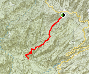 Palisade Trail to East Fork Trail Map
