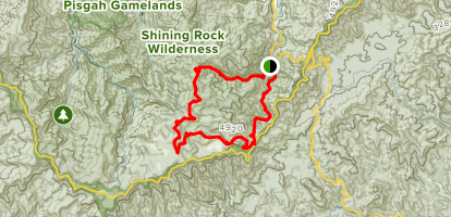 Big East Fork and Art Loab Loop Map
