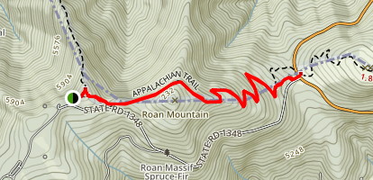 Toll House Gap to Carvers Gap Map