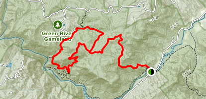 Bear Branch and Green River Bluff Trail Map
