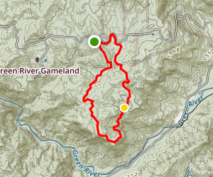 Green River Gameland Loop Map