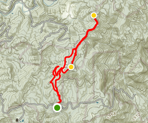 Laurel Mountain Extended Hike Map
