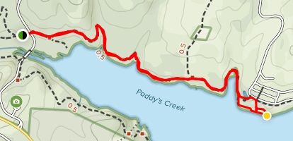 Paddy's Creek Trail Map