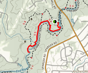 Cole Mill and Bobbitt Hole Trails Map