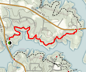 Falls Lake Trail: Six Forks Rd to NC98 Map