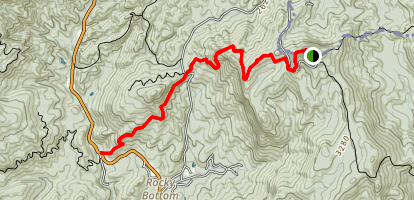 Sassafrass Mountain to NC 178 Map