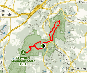 Kings Mountain and Crowders Mountain Map