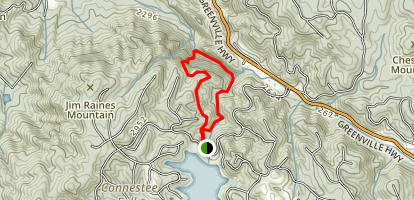 Connestee Trail Loop (PRIVATE PROPERTY) Map