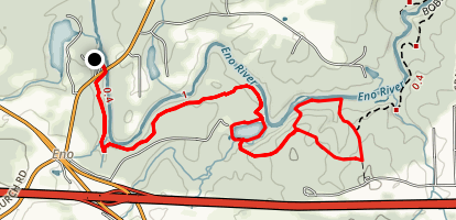 Laurel Bluffs to Eno Quarry and Cabe Lands Trail Map